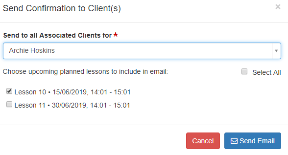 Job Confirmation Emails