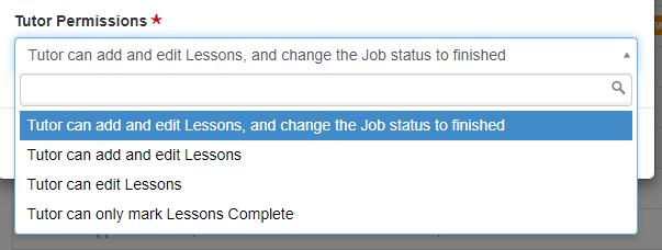 Tutor permissions on a Job